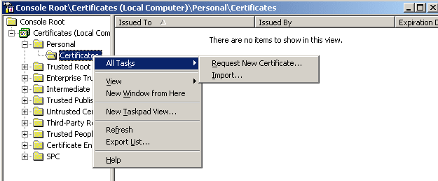 how to get ftp server certificate