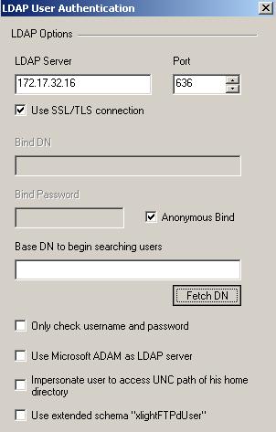 Integrating Xlight FTP Server with LDAP servers
